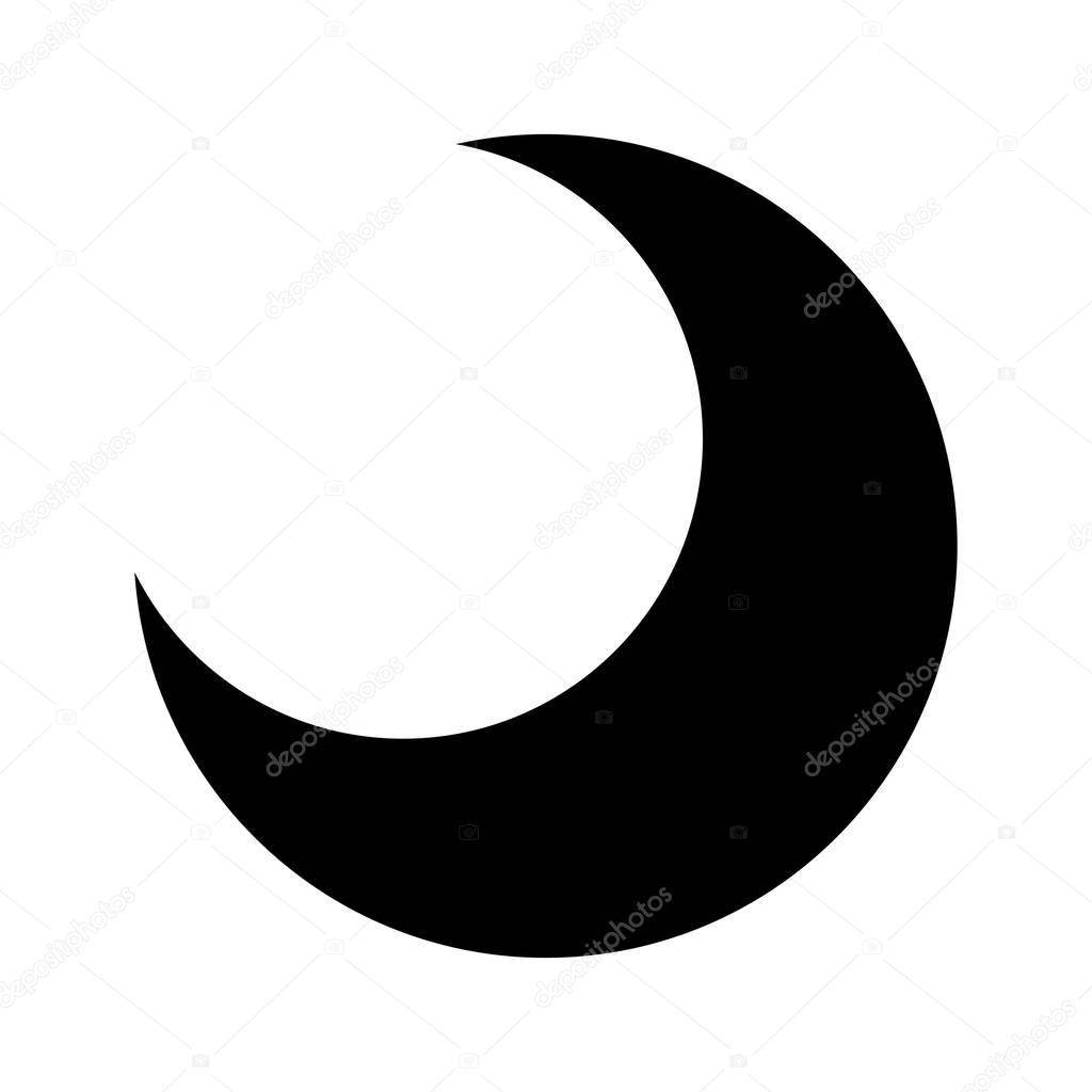 moon silhouette isolated icon