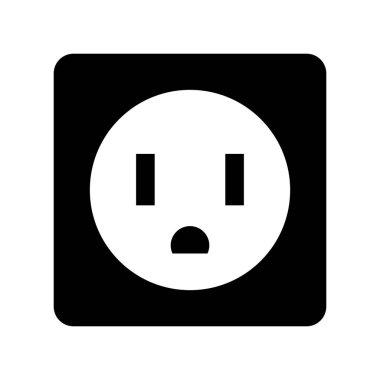 socket energy isolated icon