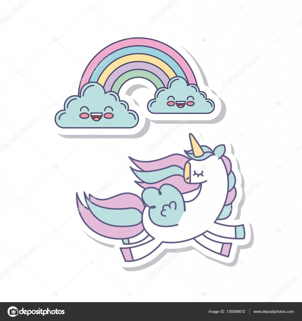 drawing cute unicorn icon u2014 stock vector yupiramos 135598672