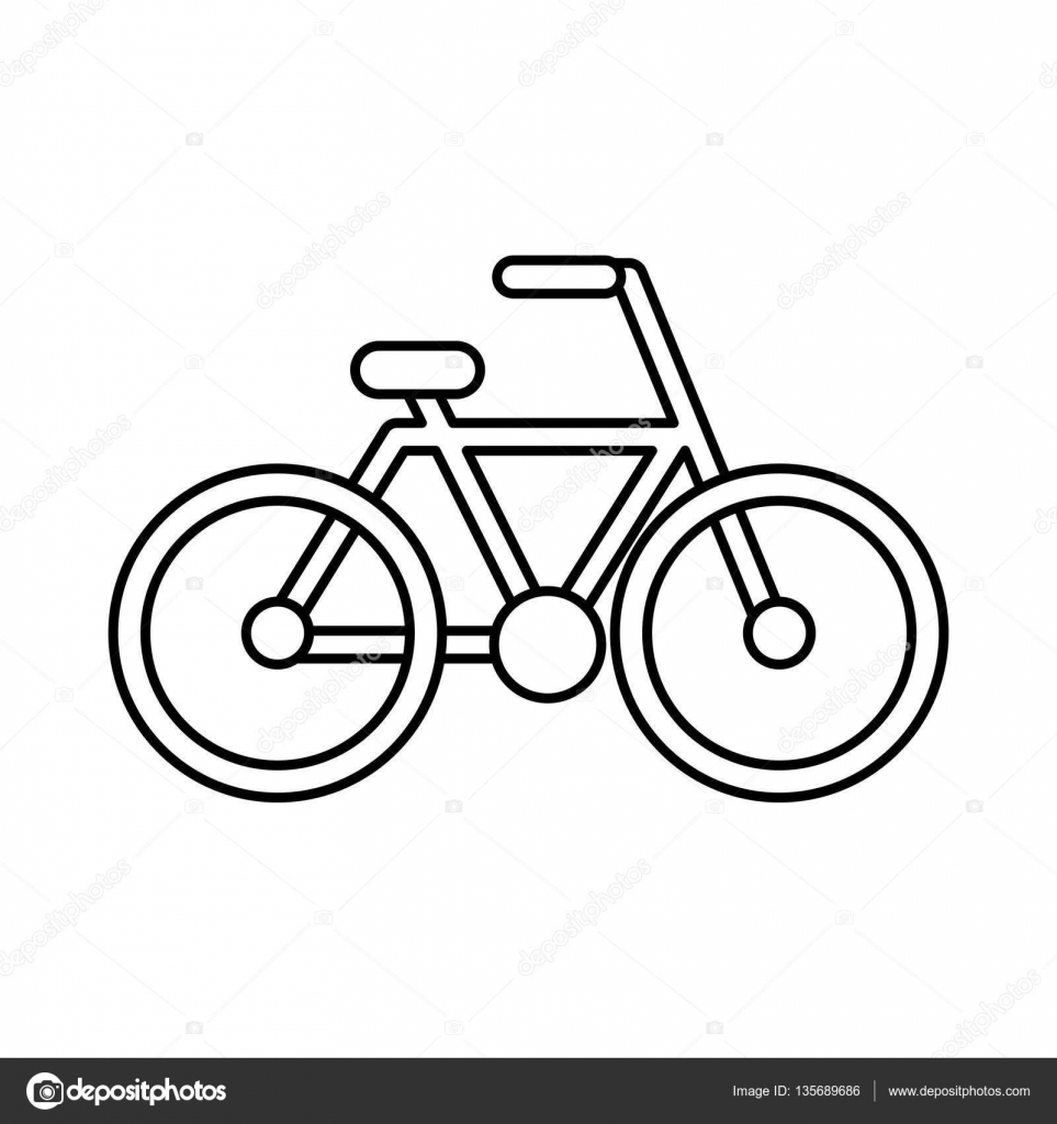 fiets tekening ge u00efsoleerde pictogram stockvector  u00a9 yupiramos 135689686 bicycle vector clip art bicycle victoria bc