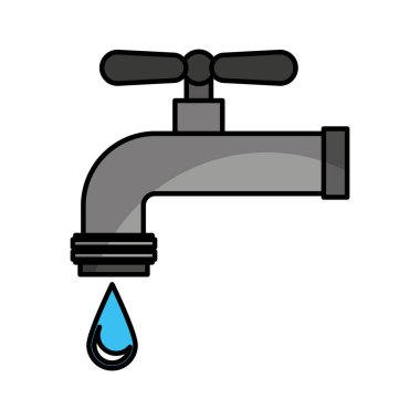 water tap isolated icon