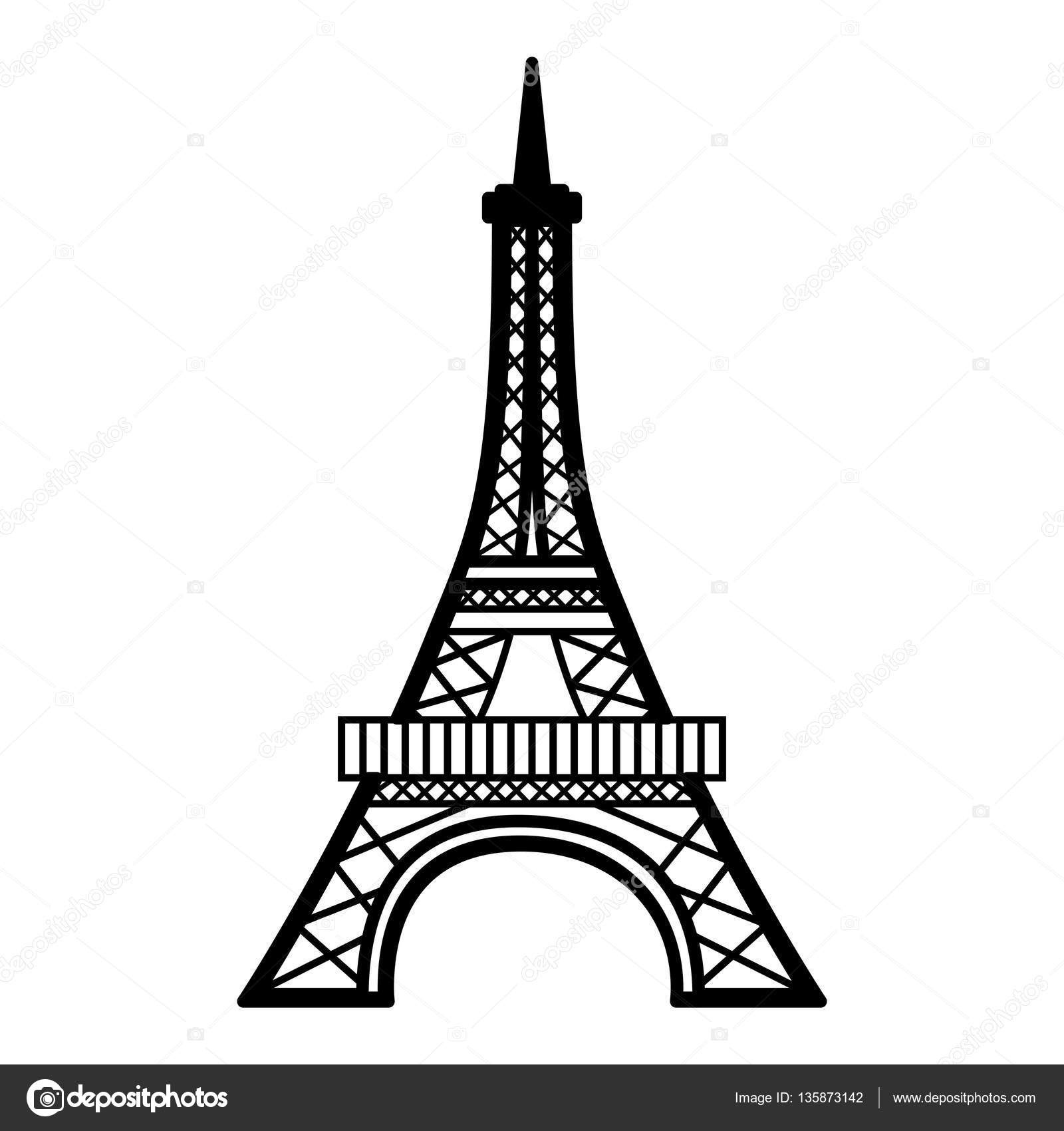 eiffel tower isolated icon stock vector  u00a9 yupiramos eiffel tower vector png eiffel tower vector png