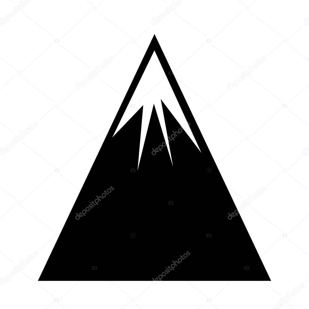 mountain landscape isolated icon