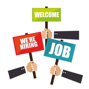 recruitment process concept icon