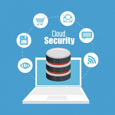 cloud security data icon