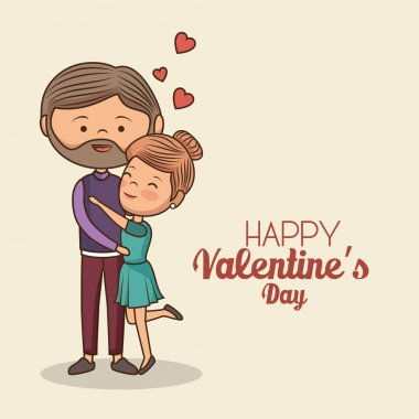 Lovely couple valentines day vector illustration design clip art vector