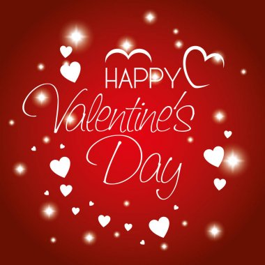 Happy valentines day card vector illustration design clip art vector