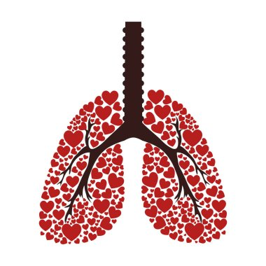 Ecological lungs isolated icon