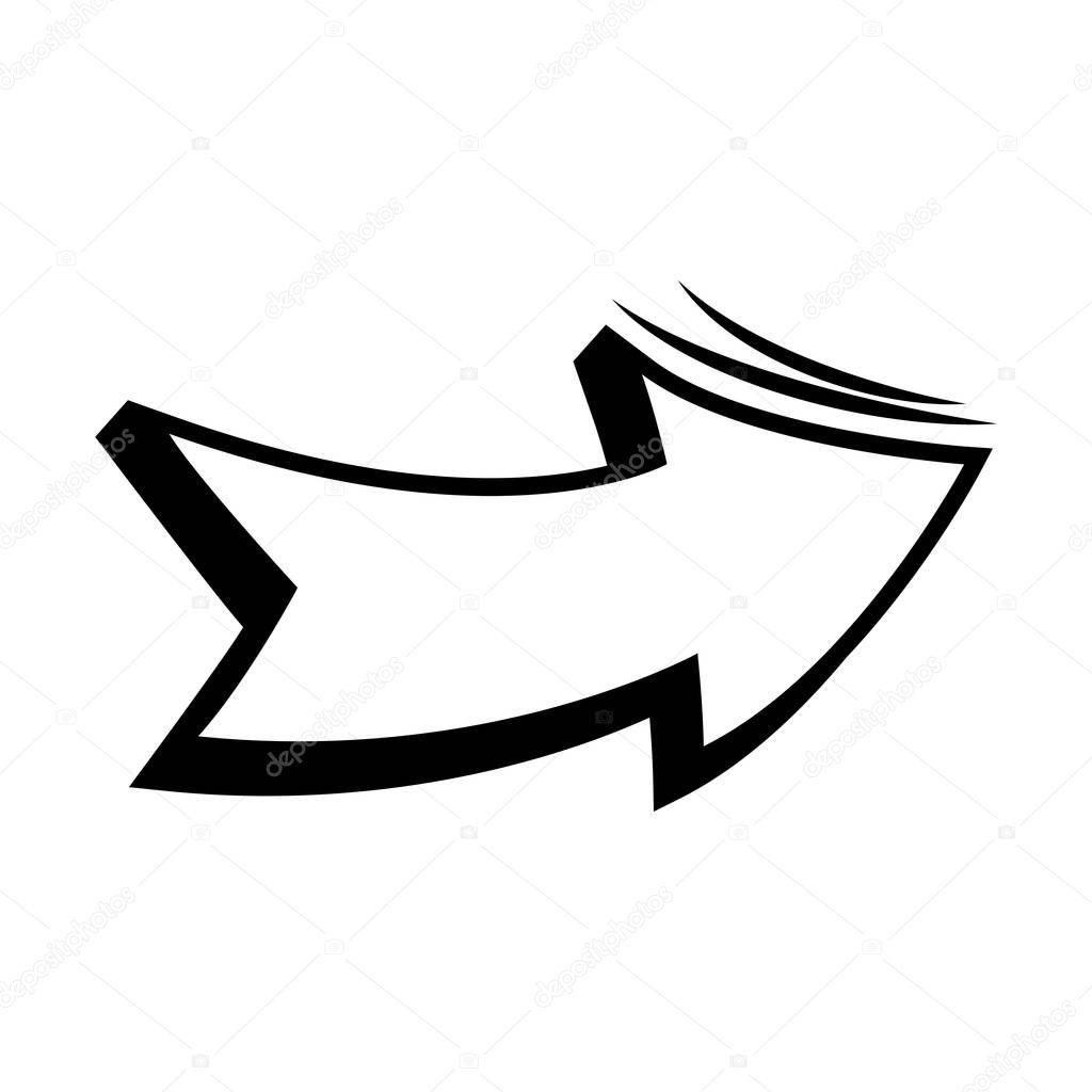 Arrow pop art icon