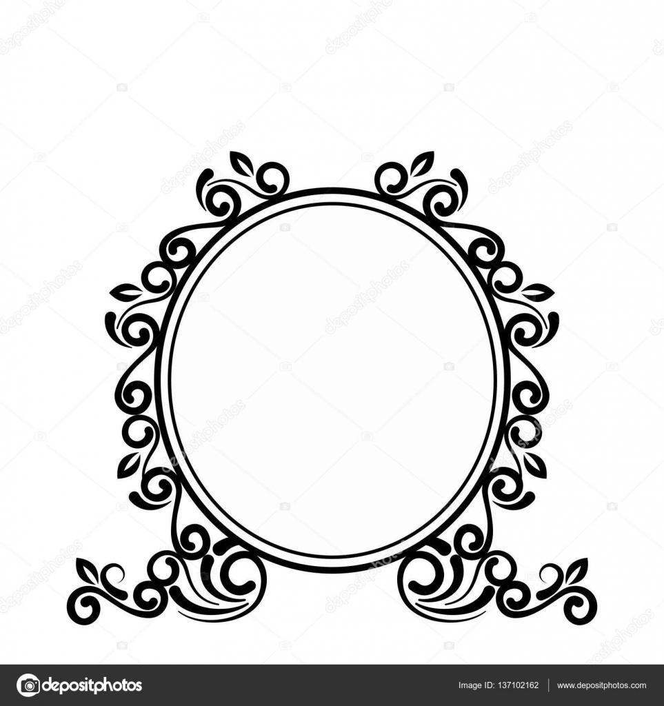 Vector Round Ornament Png Icono De Elegante Marco Victoriano