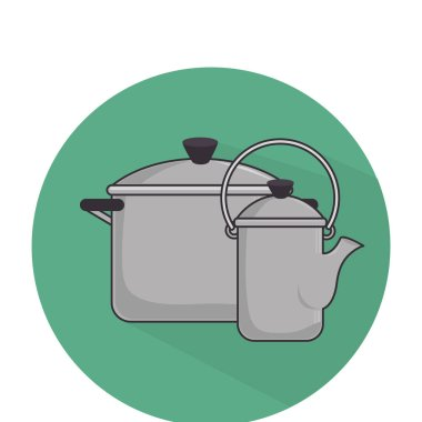camping pots equipment icon