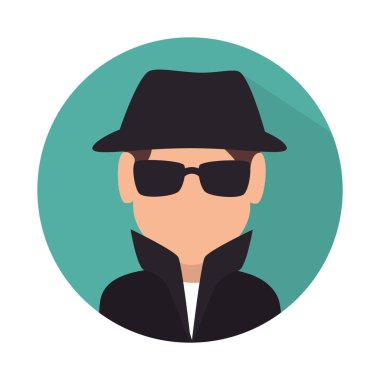 spy avatar isolated icon