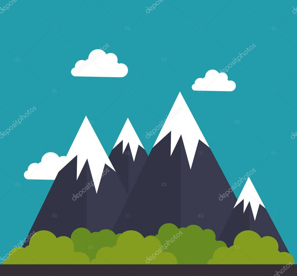 mountain landscape isolated icon