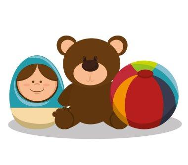 set baby toys icon