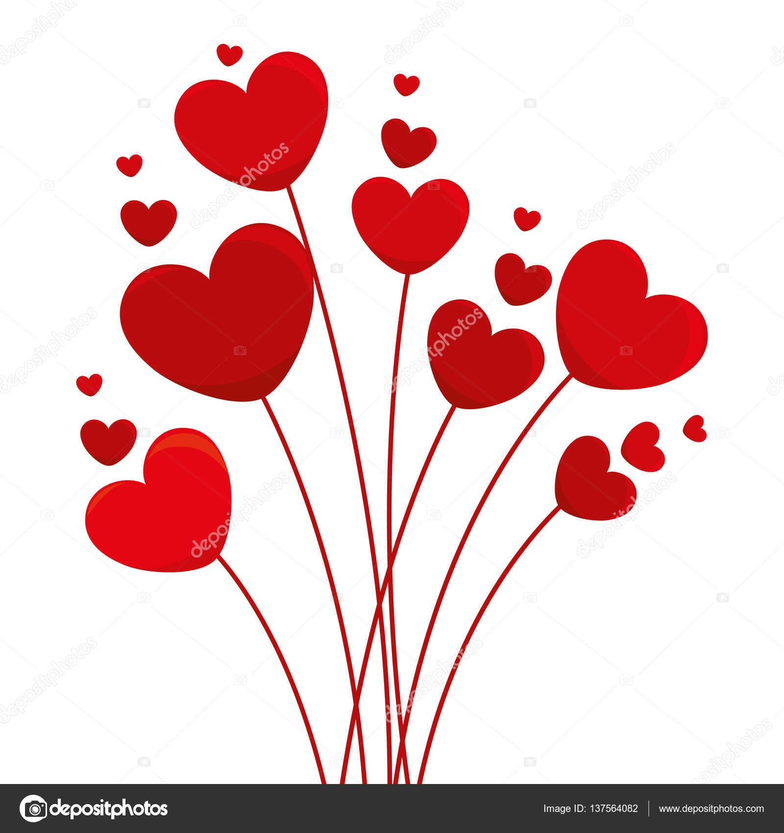 D coration de carte coeur amour image vectorielle - Image de coeur damour ...
