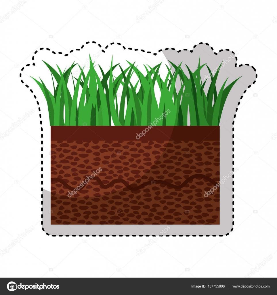 Boden und Rasen-Symbol — Stockvektor © yupiramos #137755808