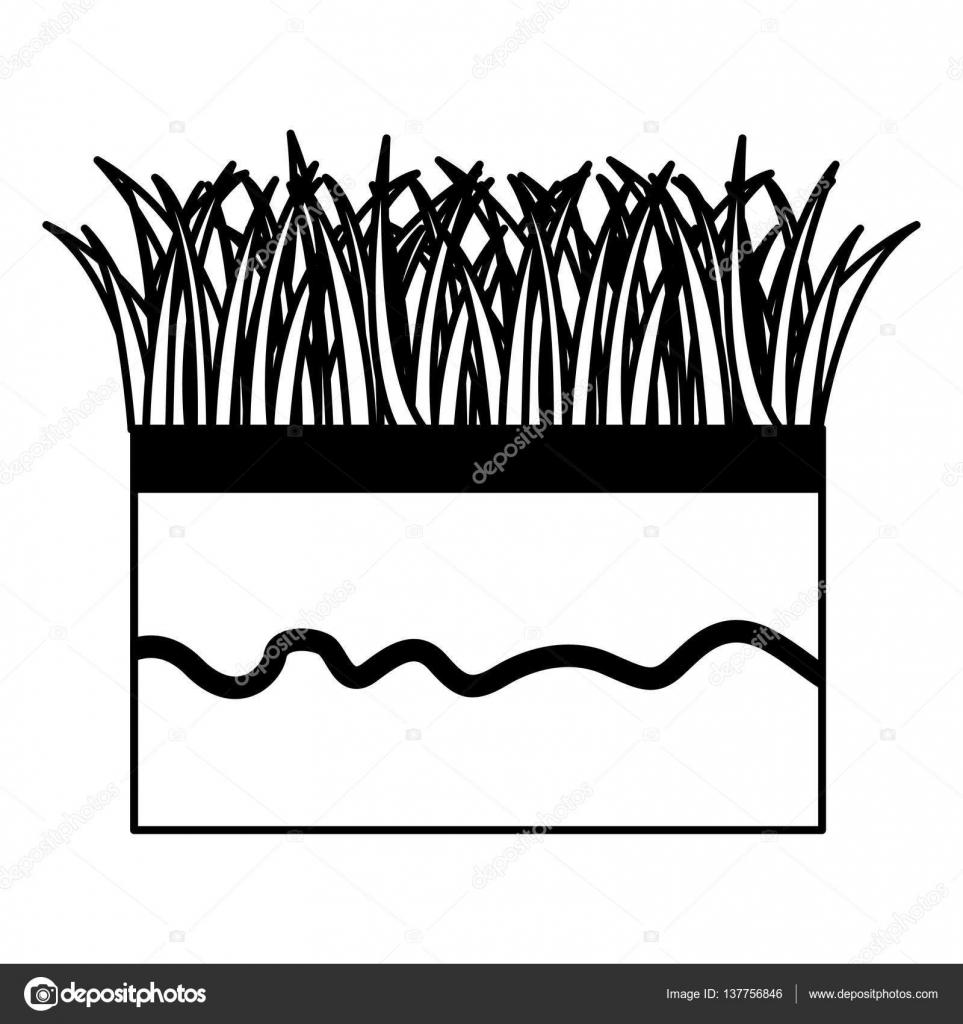 Boden und Rasen-Symbol — Stockvektor © yupiramos #137756846