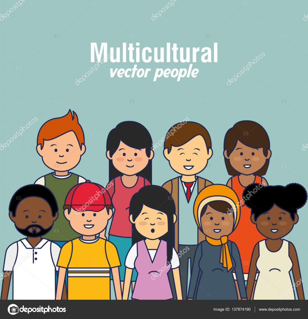 Multicultural: Multicultural People Avatars Icon