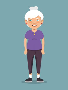 grandmother with sport clothes