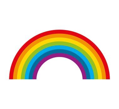 cute rainbow isolated icon