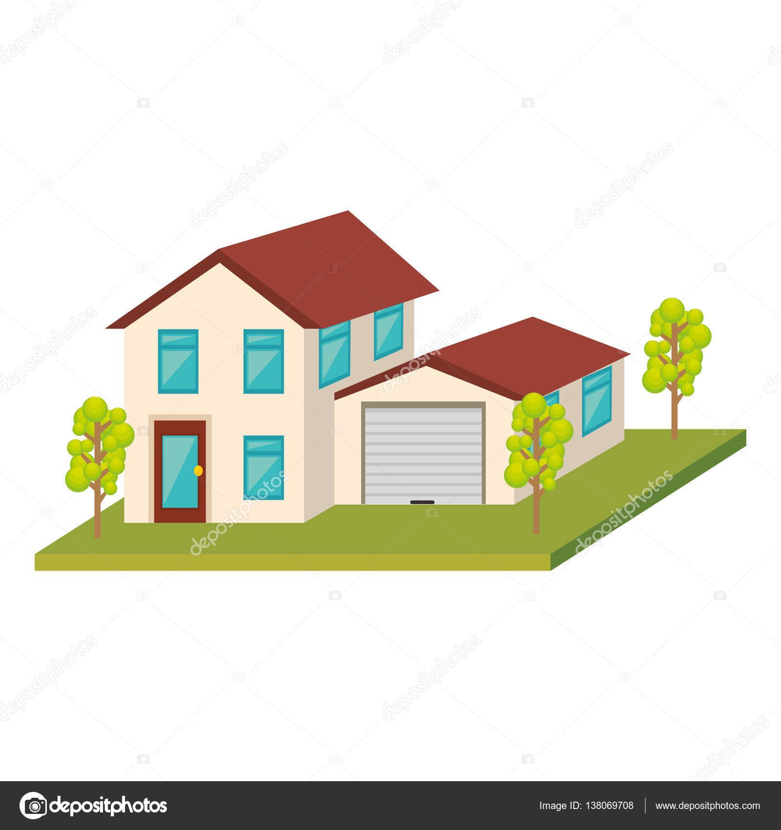 外観のかわいい家のアイコン ストックベクター Yupiramos 138069708