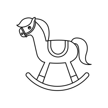 horse wooden toy icon