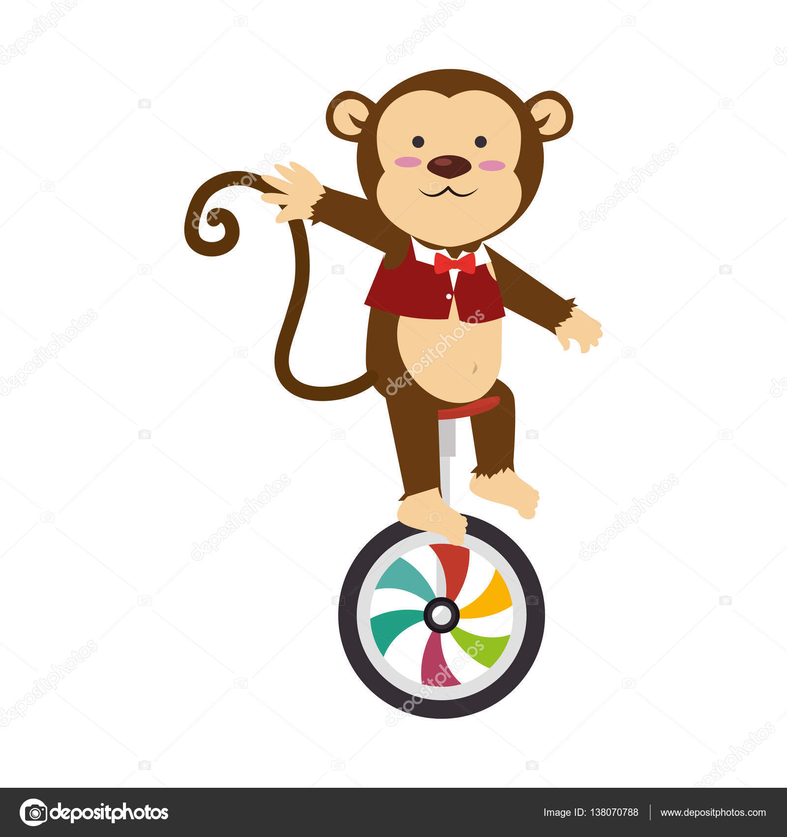Cute monkey circus animal stock vector 169 yupiramos 138070788