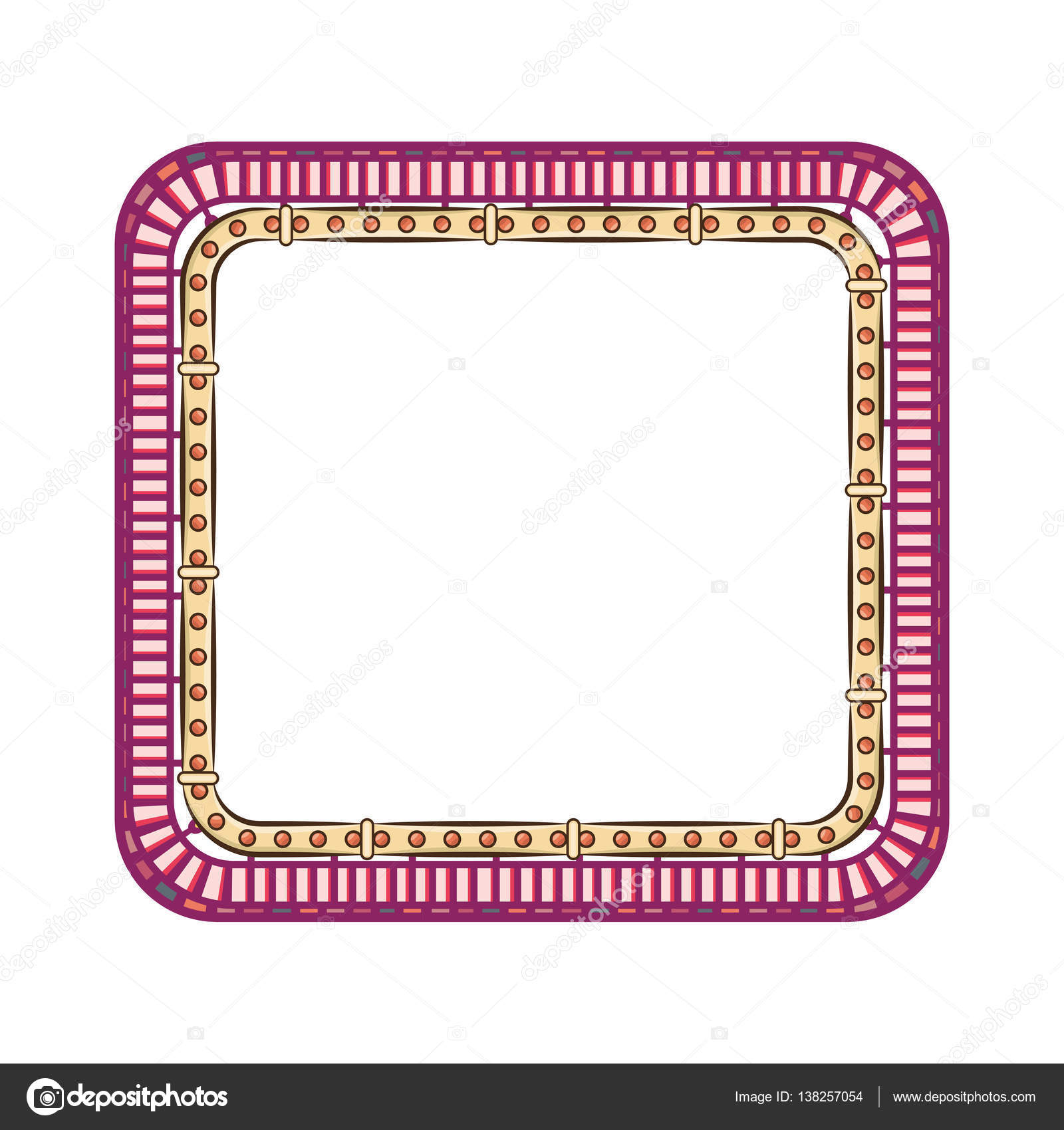 marco lindo floral decorativo — Vector de stock © yupiramos #138257054