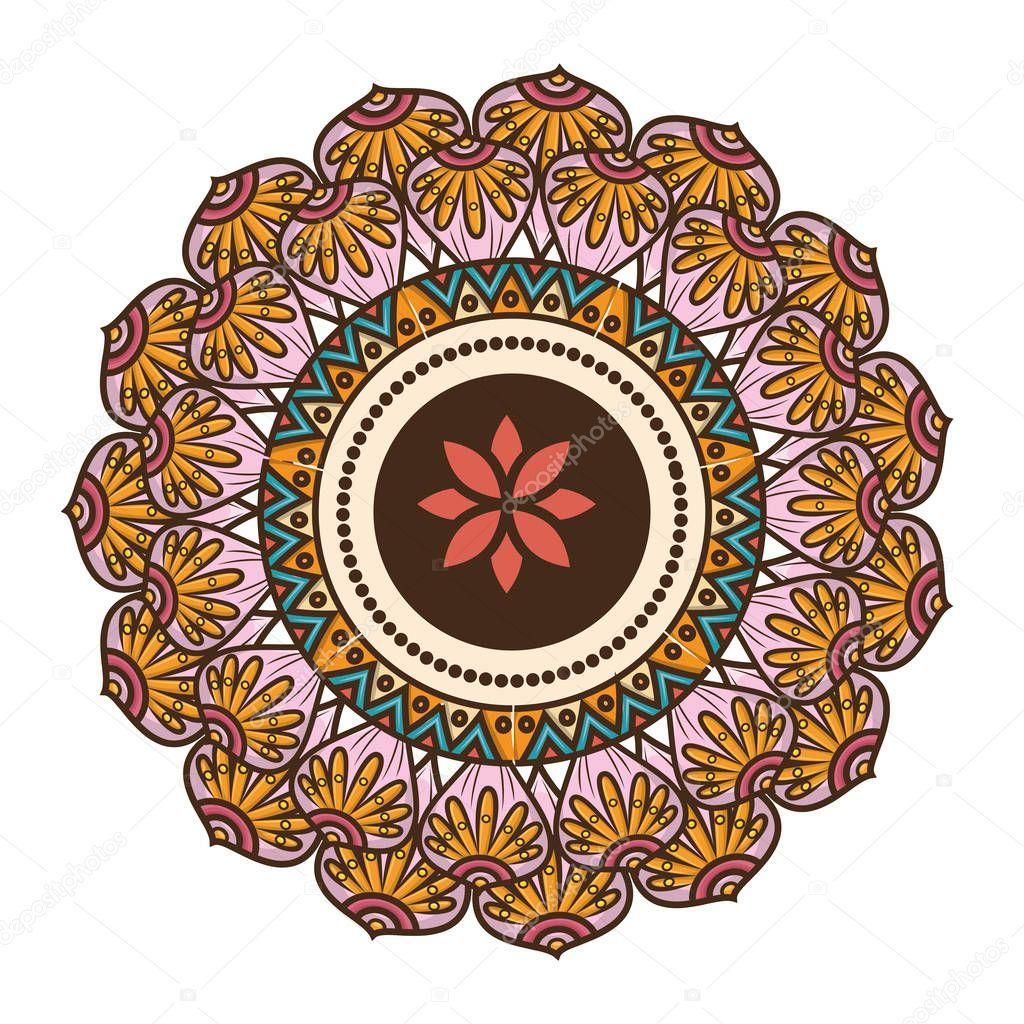 mandala art decorative icon