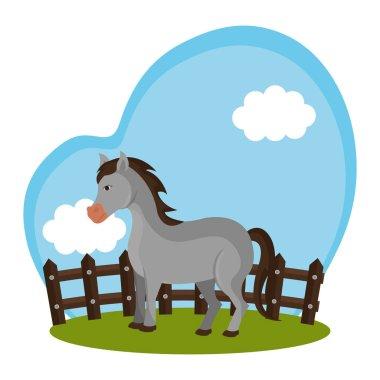 horse animal farm icon