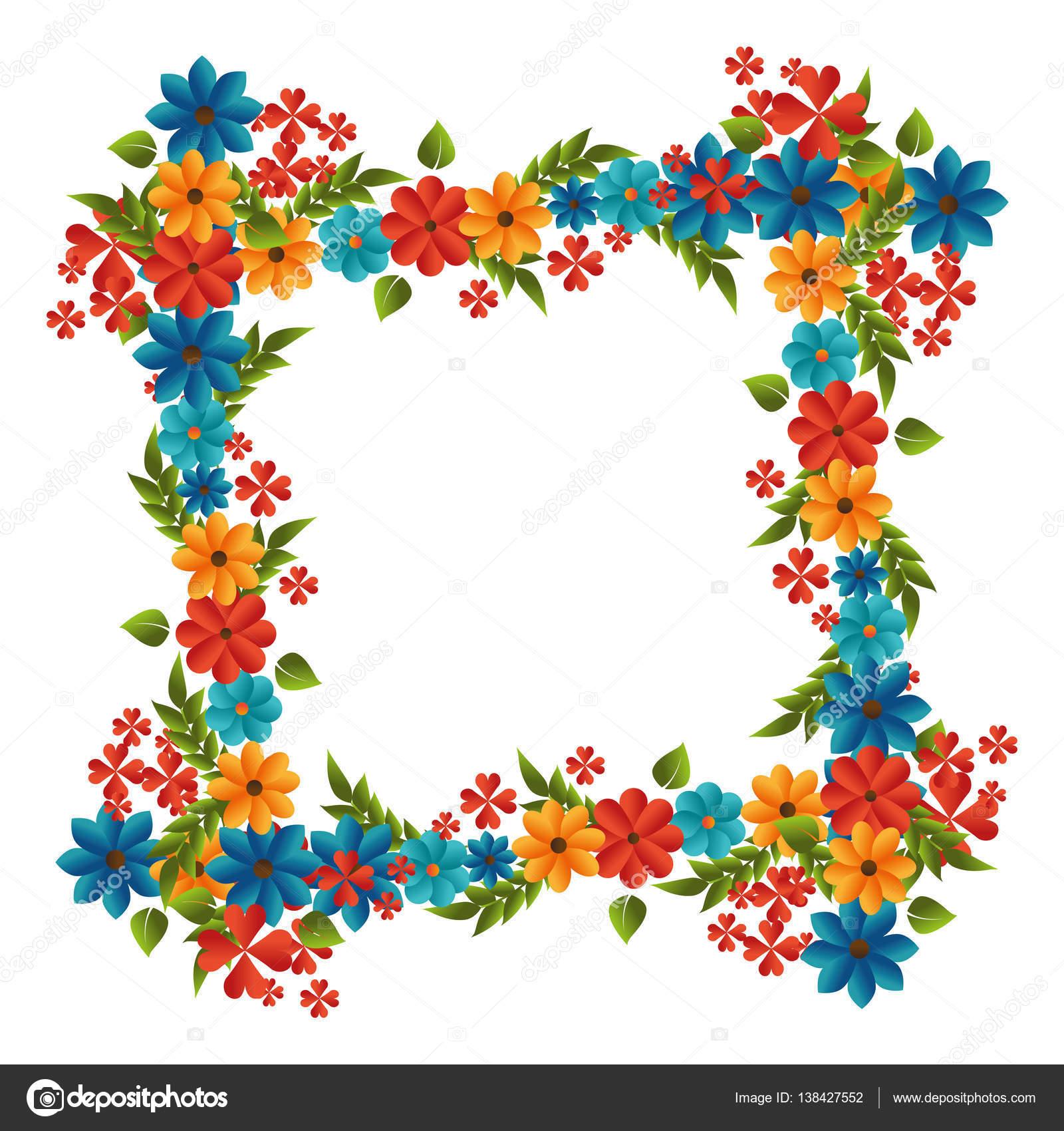 marco lindo floral decorativo — Vector de stock © yupiramos #138427552