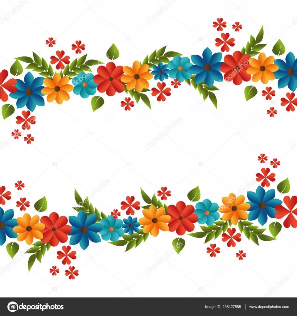 marco lindo floral decorativo — Archivo Imágenes Vectoriales ...