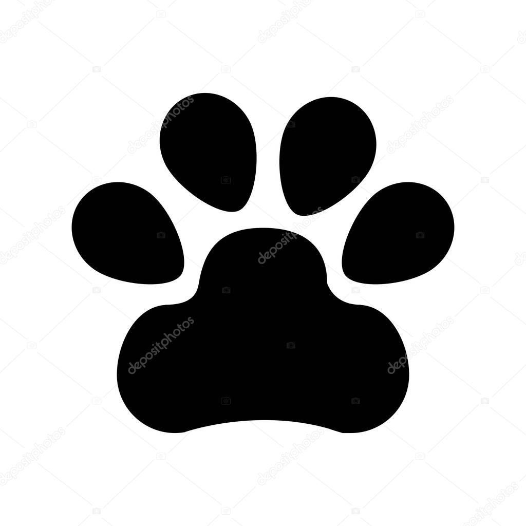 animal footprint isolated icon