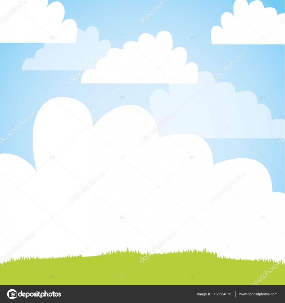 かわいいフィールド風景アイコン ストックベクター Yupiramos 138864072