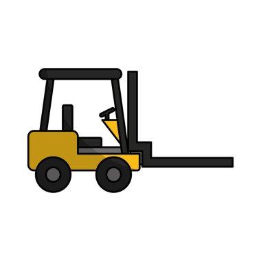 forklift machine logistic icon