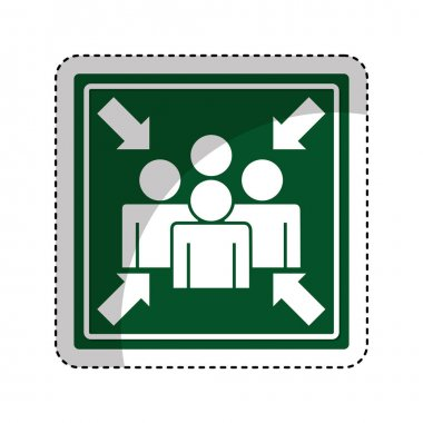 Meeting point sign icon