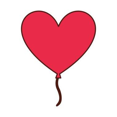 Heart love romantic icon vector illustration design clip art vector