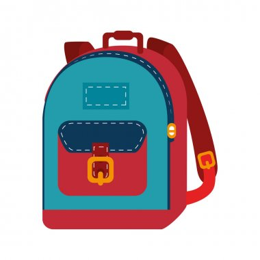 school bag equipment icon