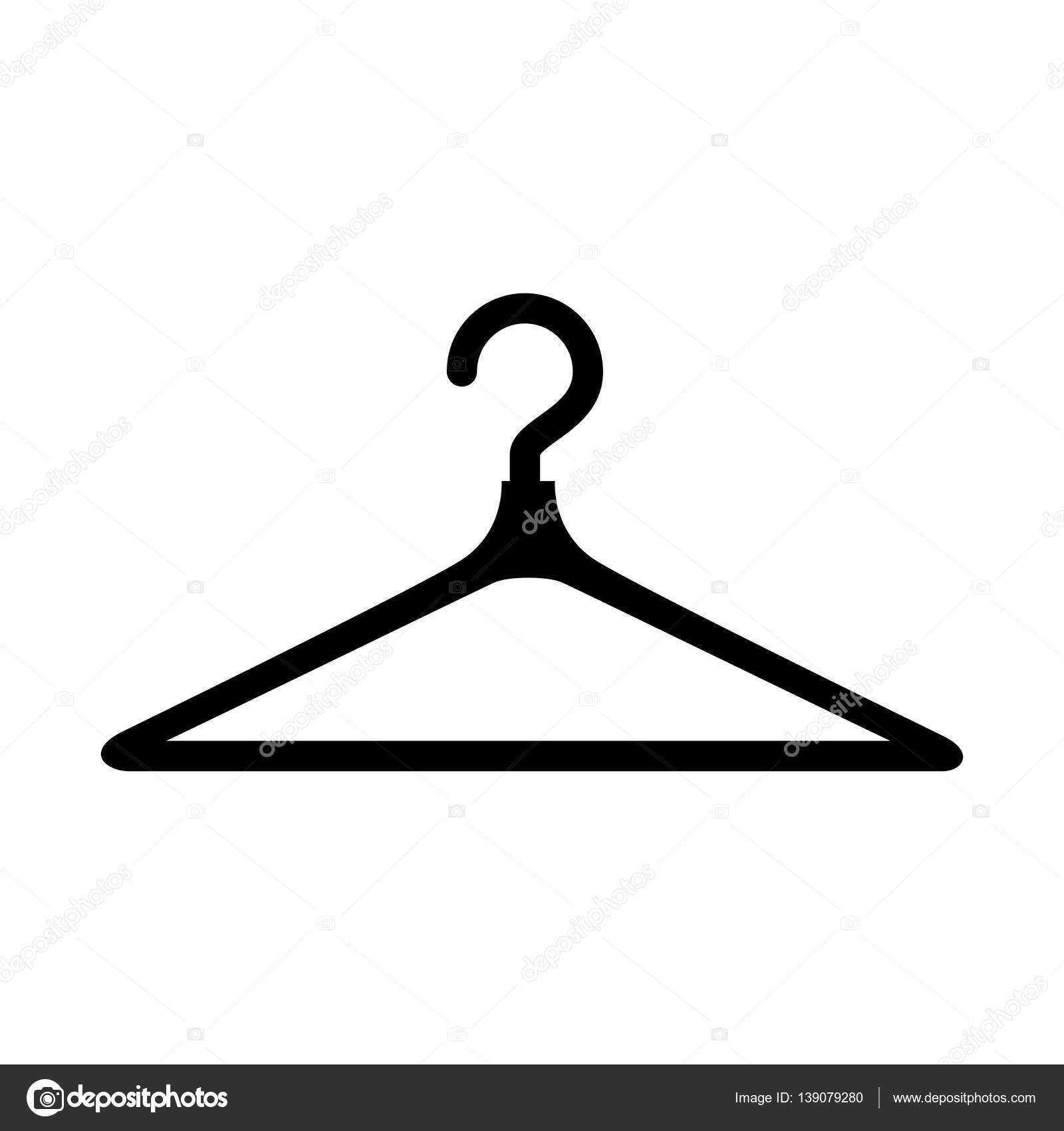 Ropa gancho icono aislado archivo im genes vectoriales for Gancho colgador de ropa
