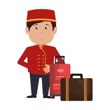 bellboy character hotel service icon
