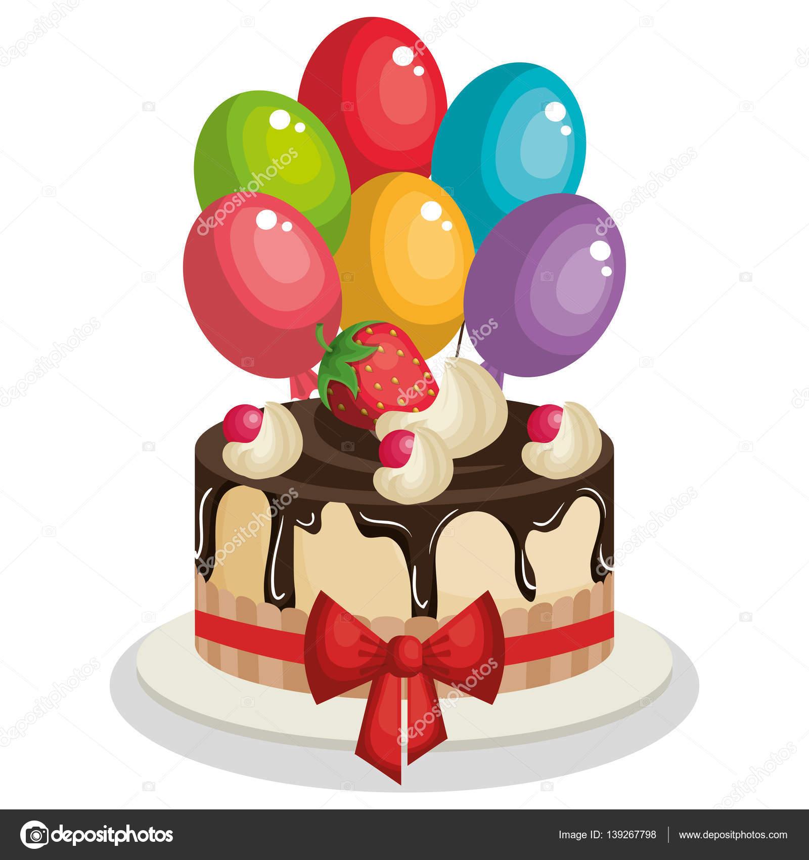Красивые открытки c днем рождения для женщин!. Картинка с цветами и подарком для женщины. Тортик, тюльпаны и красивое пожелание.