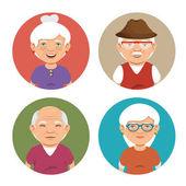 Fotografie grandparents group avatars characters