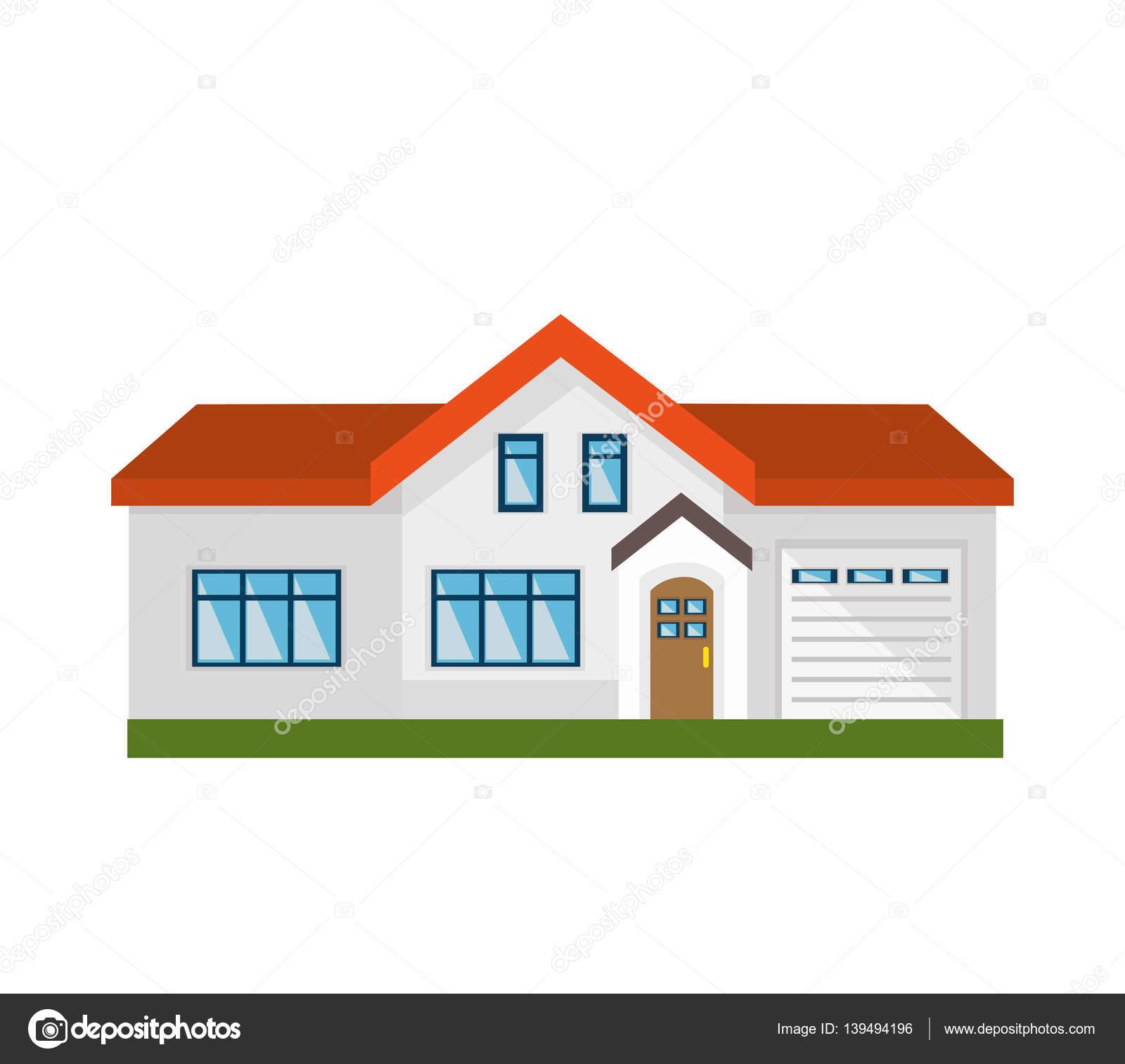 かわいい家の外装絶縁アイコン ストックベクター Yupiramos 139494196