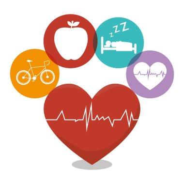 healthy heart cardio icon