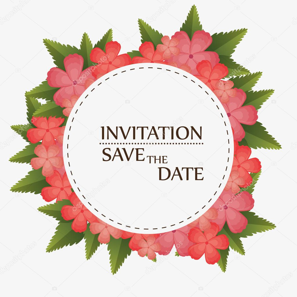 floral invitation save the date