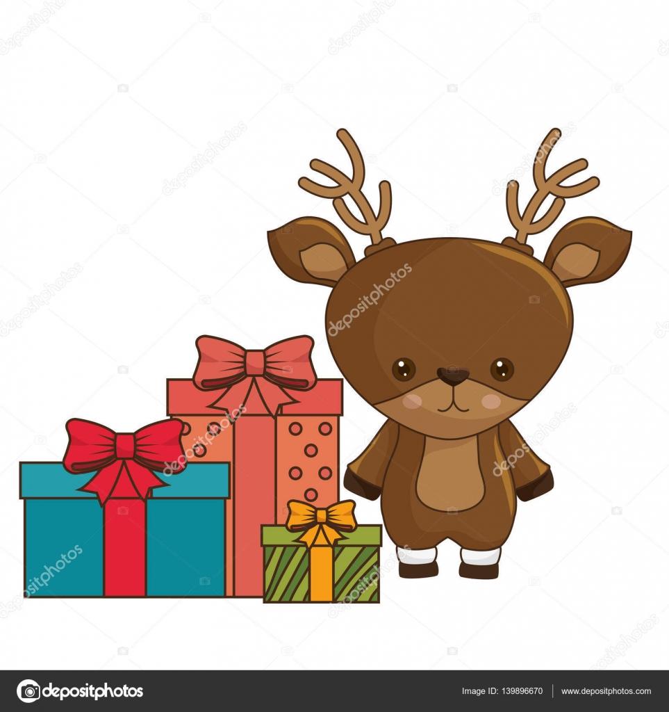 Disegni Di Natale Kawaii.Immagini Natalizie Kawaii Felice Natale Personaggio Kawaii Di