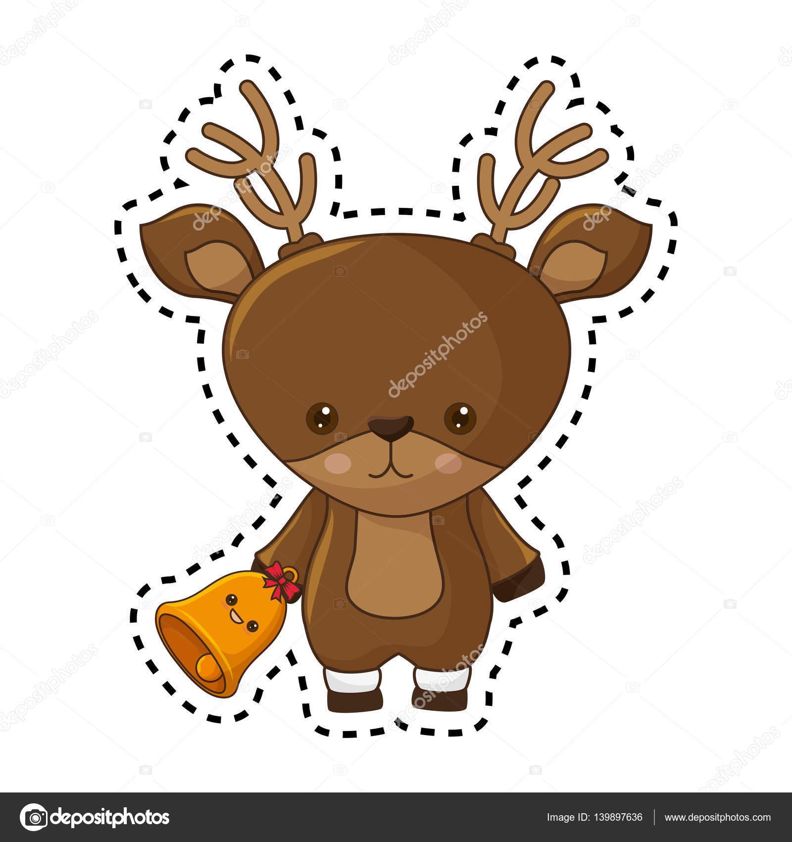 Disegni Di Natale Kawaii.Disegni Di Renne Kawaii Felice Natale Personaggio Kawaii Di Renna