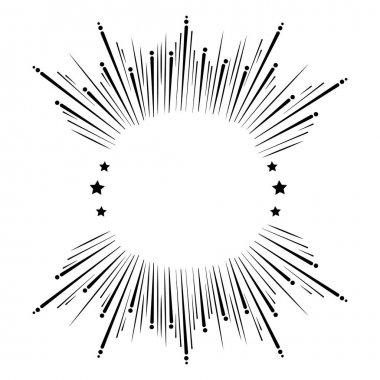 sun burst frame icon