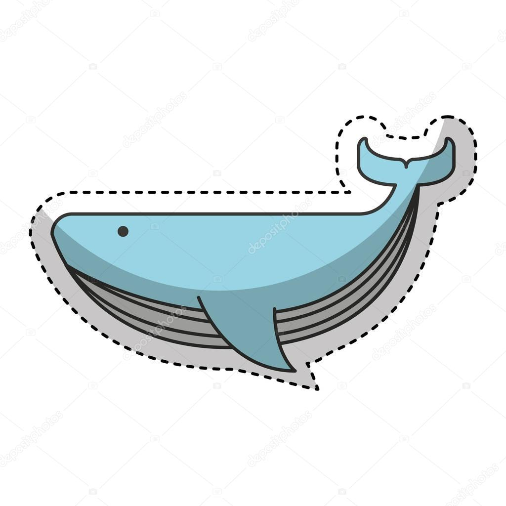 whale animal maritime icon