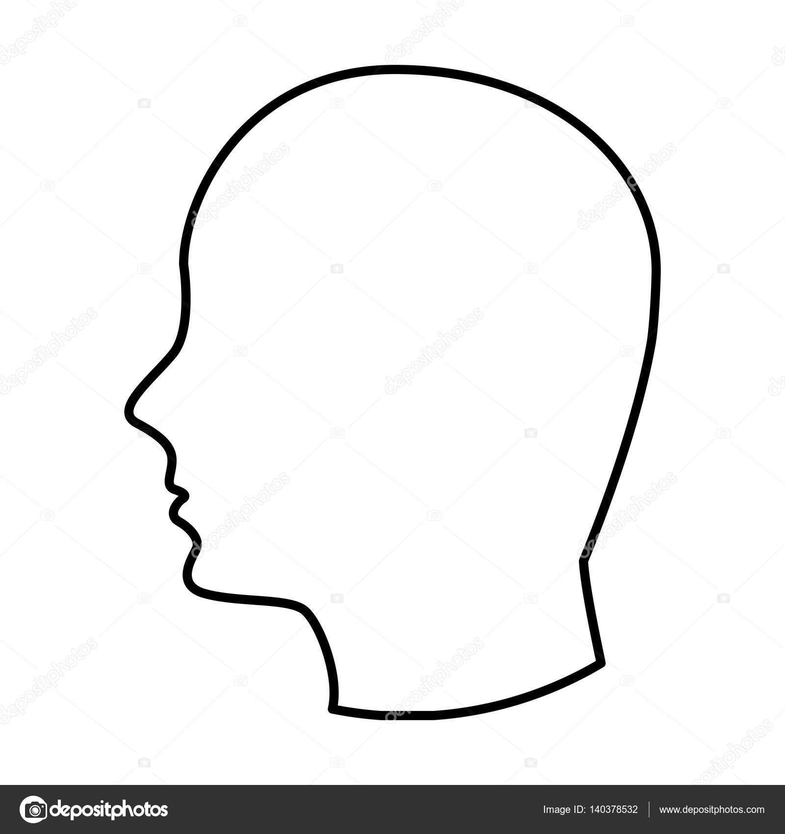 Head human profile icon stock vector yupiramos 140378532 - Dessin tete de profil ...
